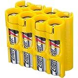 Powerpax Storacell SlimLine AAA 6 件装电池盒,橙色 Holds 8 Batteries AAA8PKCY