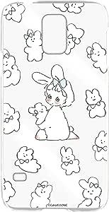 Caho 壳 透明 硬质 印刷 兔子 背景透明WN-LC1020080 3_ Galaxy S5 SC-04F 兔子B
