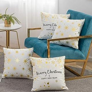 AYASW Pillowcases 信封 圣诞节 throw 4pieces
