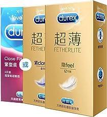 Durex 杜蕾斯 避孕套 超薄 安全套 男用 共16只(超薄装12只+紧型超薄4只或紧型4只) 成人情趣性用品