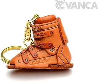 滑雪靴运动 3D 皮革钥匙扣 (L) VANCA CRAFT 可收藏钥匙圈吊坠日本制造