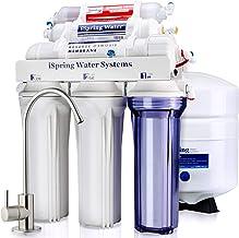 iSpring 愛詩普霖 RCC7AK 6級 精致口感 高容量 水槽下 反滲透 飲用水過濾系統 堿性補充礦質 - 天然 pH 值, 白色