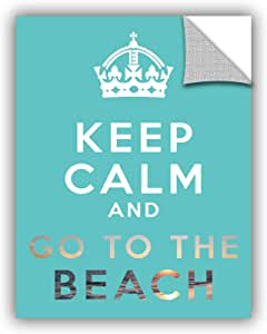 """ArtWall Art D Signer Kcco's 'Keep Calm and Go To The Beach' Appeelz Removable Graphic Wall Art, 14 by 18"""""""