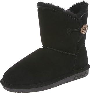 Bearpaw 女士 Rosie 及踝高羊皮靴