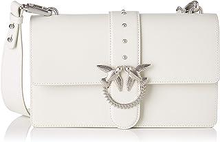 PINKO 女士 Love Classic Simply Fl Vitello 单肩包,7.5x16.5x27厘米