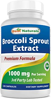 Best Naturals - 硬花甘蓝Sprout萃取物 1000 mg。120 胶囊