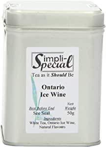 Simpli-Special Ontario IceWine White Loose Leaf Tea with Natural Flavours 50 g in Gift Caddy (Pack of 2)