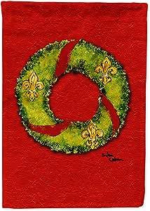Christmas Wreath Fleur de lis Flag 多色 大
