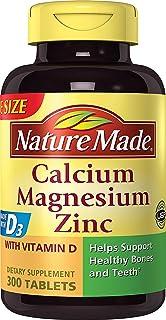 Nature Made 莱萃美 钙 镁 锌 含维生素D 营养素 矿物质 300粒 【由亚马逊海外卖家Meivita美国直邮】