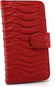 Whitenuts 手机保护壳 翻盖型 波浪WN-OD451065_MX 2_ Xperia XA2 H4113 红色