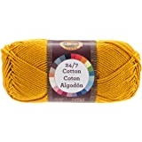 Lion Brand Yarn 761-158 24-7 Cotton Yarn, Goldenrod