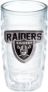 Tervis NFL Oakland Raiders Sequins Emblem Individual Tumbler, Clear 透明 10 盎司