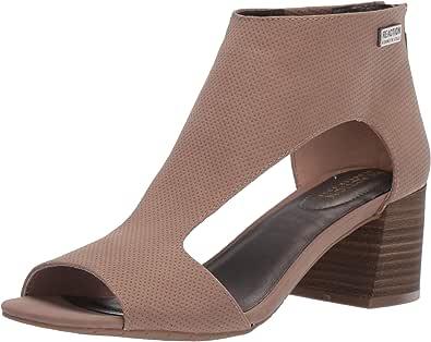 Kenneth Cole REACTION 女士混合镂空 T 形绑带高跟凉鞋 灰褐色 5