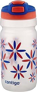 Contigo AUTOSPOUT Straw Squeeze Kids Water Bottle, 18 oz, Tango Pink
