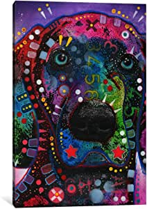 """iCanvasART Purple Excitement Canvas Print by Dean Russo, 26"""" x 18""""/1.5"""" Deep"""