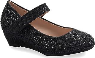 OLIVIA K 女式低粗跟系带镂空角斗士凉鞋