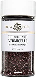 India Tree Chocolate Vermicelli, Natural, 2.6 Ounce