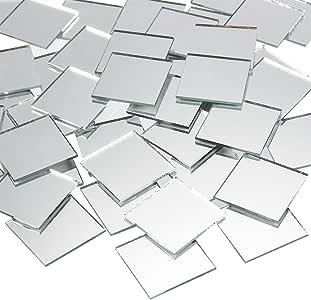 工艺镜子 - 120 片装散装方形镜片 - 1x1 英寸玻璃马赛克瓷砖