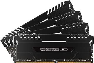 Corsair CMU64GX4M4C3200C16 Vengeance LED 64GB (4x16GB) DDR4 3200MHz C16 XMP 2.0 Enthusiast LED Illuminated Memory Kit - Black with White LED Lighting