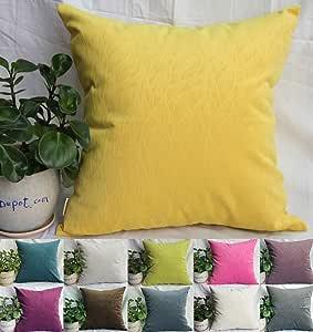 tangdepot 纯色天鹅绒装饰枕套/欧元的枕套,超软丝绒, Micro 压花叶纹理和形状