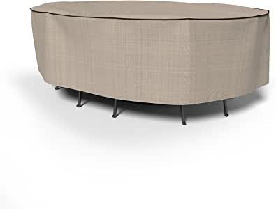 Budgete 英国花园椭圆形桌椅组合套 大 棕色 P5A13PM1