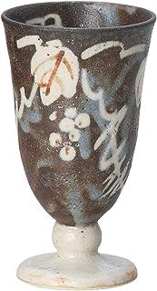 宗峰窑 陶器 自由杯 志野 高台 黑鼠 φ7.7×13.3cm(200cc) 343-04-303