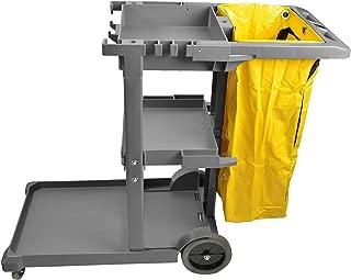 Janico Inc Janitor Housekeeping Utility 玩具车,替换乙烯基袋,盒装 灰色 45x21.8x38.8 1050