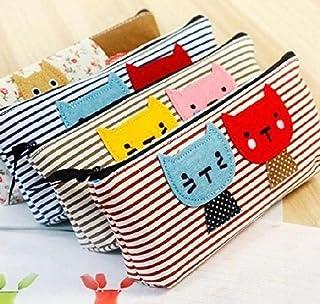 La Tartelette Kitten 条纹笔袋猫铅笔盒,多色 - 4 件套