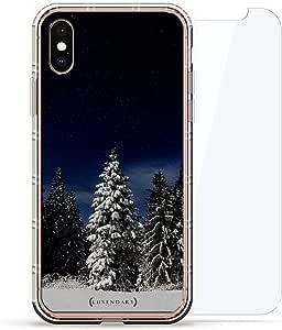 豪华设计师,3D 印花,时尚气袋垫,360 度玻璃保护套装手机壳 iPhoneLUX-IXAIR360-TREE1 WINTER TREES SEETHROUGH 透明