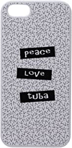 Graphics and More Peace Love Tuba 卡扣式硬质保护壳 iPhone 5/5s - 非零售包装 - 白色