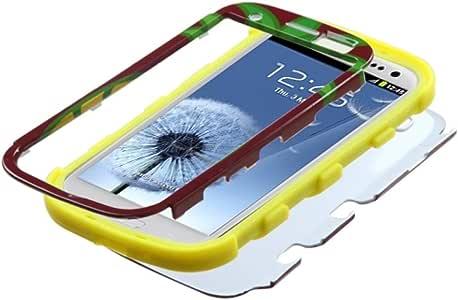 MyBat 凝灰岩混合型手机套 适用于三星 Galaxy S III i747/L710/T999/i535/R530/i9300 - 零售包装 - 菠萝/黄色