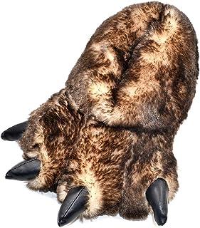 Millffy 趣味拖鞋 灰熊填充动物爪子拖鞋 幼儿服装 鞋类
