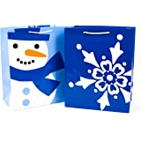 Hallmark 5XGB1808 Winter Icons Holiday Large Gift Bags, Blue