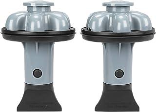 DANCO (DG2-P) Dispose Genie 2.0 厨房水槽过滤器,塞子和防溅板,带食品刮刀 灰色 2 件装 10921A