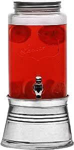 Circleware *畅销的玻璃饮料分配器 - 家庭农舍装饰品、饮料、玻璃器皿饮水眼镜套装 4-6-8-10-12,16 件及更多! 兰卡斯特 1.5 Gallon 67108