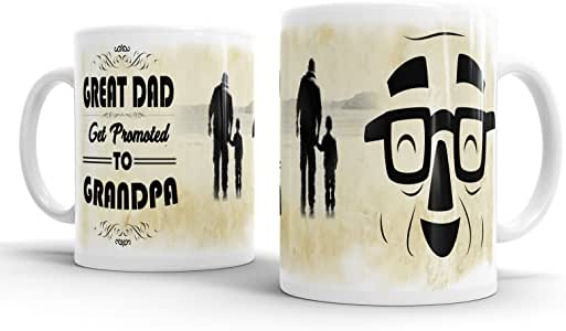 Great dad Get Promoted To Grandpa 咖啡办公室马克杯茶杯家庭爷爷