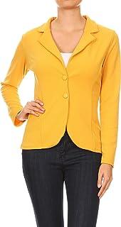 女式商务休闲修身双扣缺口领外套 J9004