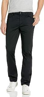 Perry Ellis 男式修身 5 口袋弹力缎裤