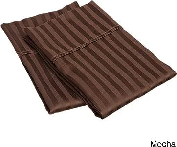 "aashirainwear 床单套装/枕套/羽绒被套装 * 棉 400 支不同尺码和 巧克力条纹 Standard (20""x30"") AASHI-v-ss-2402"