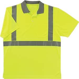 Ergodyne GLoWEAR 2 级马球衫,绿黄色 XX-L 8295