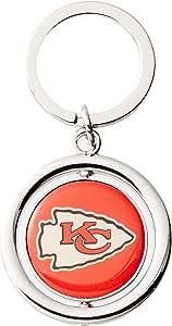 FOCO NFL 堪萨斯城酋长队足球转轮钥匙扣,红色,均码