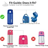 Thermos Replacement Straws for 12 Ounce Funtainer Bottle, Clear (Clear (4 Pack))