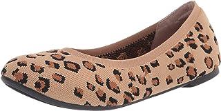Amazon Essentials 女式芭蕾平底鞋,豹纹针织,13 宽 US