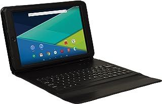 Visual LAND PRESTIGE ELITE 10qs–30.48cm quadcore 棒棒糖5.0Android 平板电脑,16GB , IPS 1280x 800高清显示屏, WIFI ,蓝牙 黑色 16GB with Matching Keyboard Case
