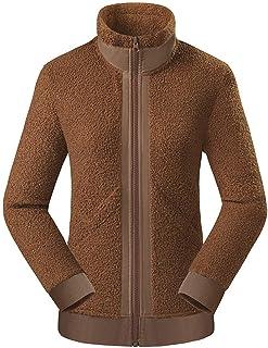 Helisopus 女式全拉链羊毛夹克经典修身高领户外摇粒绒外套夹克