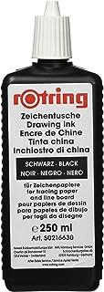 rOtring S0216630 Isograph 针笔液体墨水,250毫升, 黑色