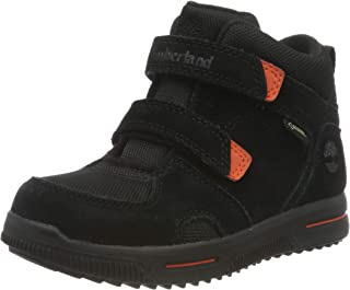 Timberland 添柏岚 中性儿童 City Stomper 2 绑带 Mid Goretex 经典靴子 黑色(黑色绒面革) 40 EU
