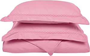 luxor treasures 超软100% 拉绒超细纤维,抗皱,被套带刺绣件枕套,附赠礼盒
