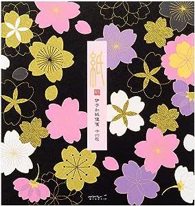 Midori 便签 丝绸 樱花图案 黑色 85271006