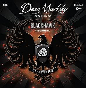 Dean Markley 8001 常规黑鹰涂层电吉他弦 (0.10-0.46) 6 弦